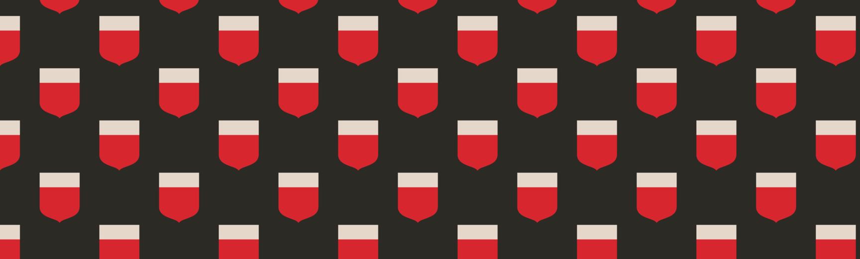 full width banner shields black