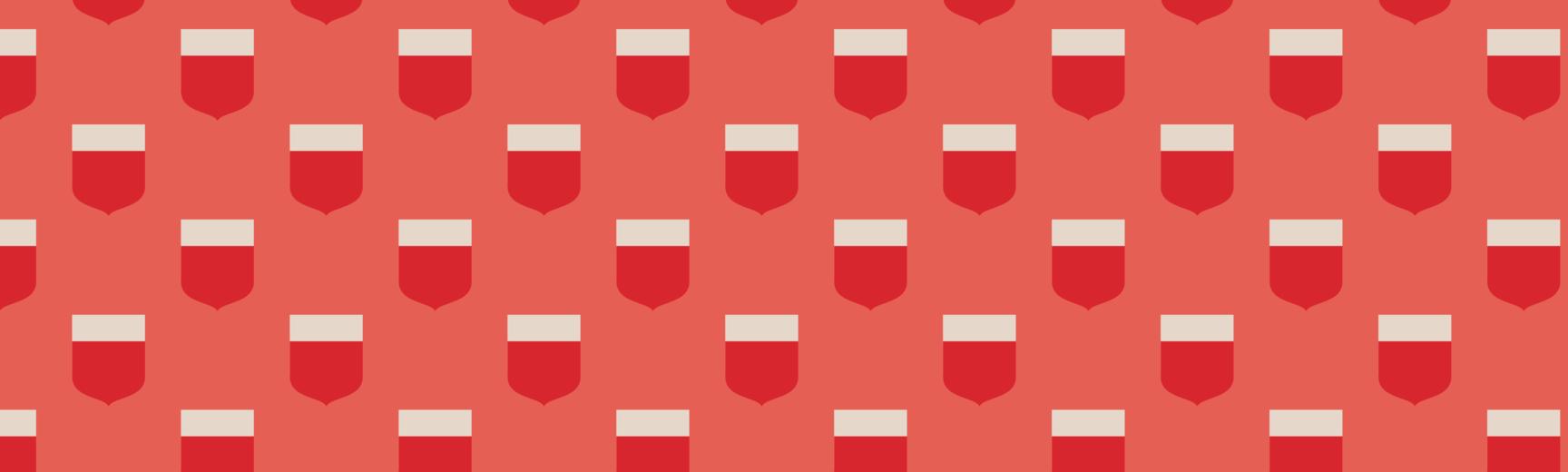 full width banner shields red