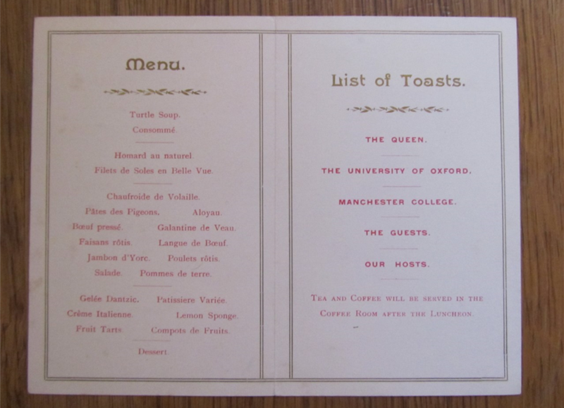 menu for college opening