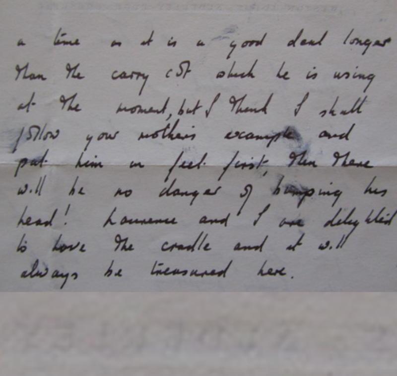 taylor cradle letter